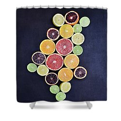Shower Curtain featuring the photograph Variety Of Citrus Fruits by Stephanie Frey