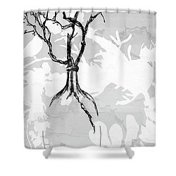 Vase Shower Curtain by Barbara Andolsek