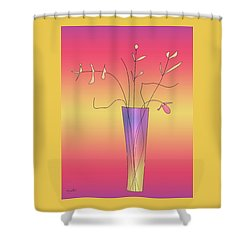 Vase 3 Shower Curtain