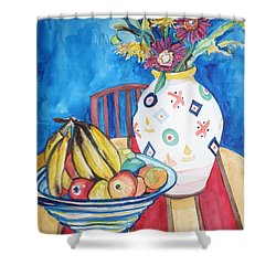 Vase And Bowl Shower Curtain by Esther Newman-Cohen