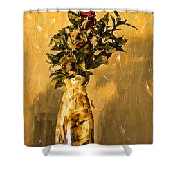 Vase And Flowers Shower Curtain by Dale Stillman