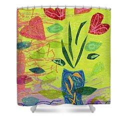Vase Full Of Love Shower Curtain