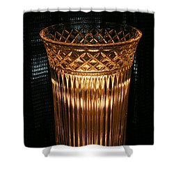 Vase In Amber Light Shower Curtain