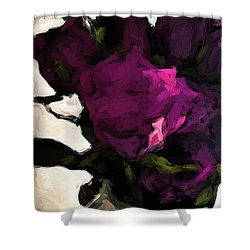 Vase Of Roses With Shadows 1 Shower Curtain
