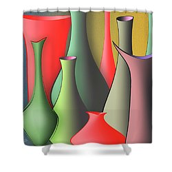 Vases Still Life Shower Curtain by Ben and Raisa Gertsberg