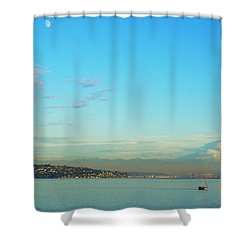 Vashon Island Shower Curtain by Angi Parks