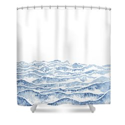 Vast Shower Curtain by Emily Magone