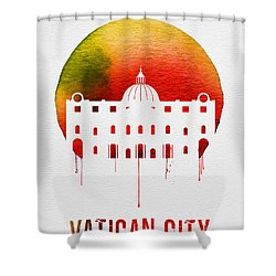 Vatican City Landmark Red Shower Curtain