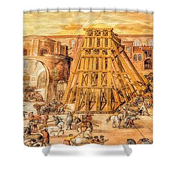 Vatican Obelisk Shower Curtain by Nigel Fletcher-Jones