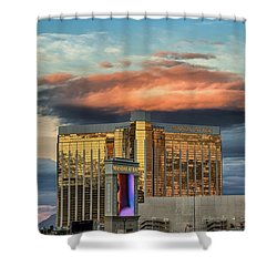 Shower Curtain featuring the photograph Vegas by Michael Rogers