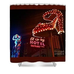 Vegas Neon Shower Curtain