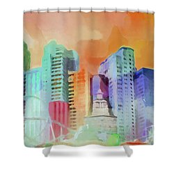 Vegas New York Shower Curtain