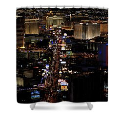 Vegas Night Lights Shower Curtain