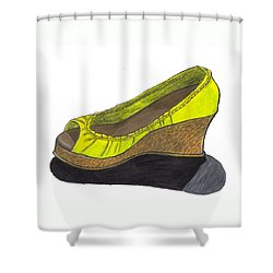 Vegas Shoes Shower Curtain