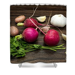 Vegetables Still Life Shower Curtain