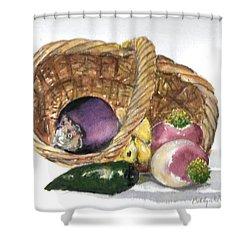Veggie Basket Shower Curtain