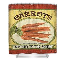 Veggie Seed Pack 4 Shower Curtain by Debbie DeWitt