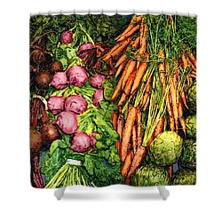 Veggie Varieties Shower Curtain