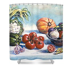 Veggies  Shower Curtain