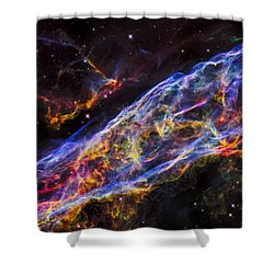 Veil Nebula - Rainbow Supernova  Shower Curtain
