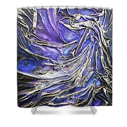 Shower Curtain featuring the mixed media Veiled Figure by Angela Stout
