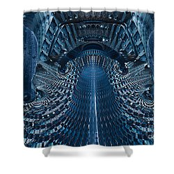 Shower Curtain featuring the digital art Veiled Fractal by Melissa Messick