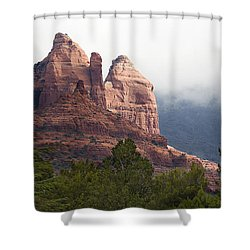 Shower Curtain featuring the photograph Veiled In Clouds by Phyllis Denton