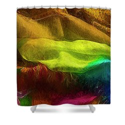 Veiled Mask Shower Curtain
