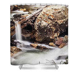 Velvet Falls - Rocky Mountain Stream Shower Curtain