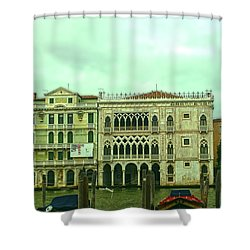 Shower Curtain featuring the photograph Venetian Aternoon by Anne Kotan