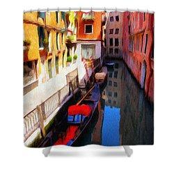 Venetian Canal Shower Curtain by Jeffrey Kolker