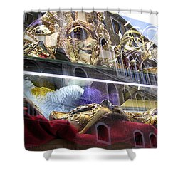 Venetian Carnival Reflections Shower Curtain