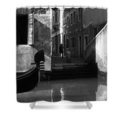 Venetian Daily Life Shower Curtain by Yuri Santin