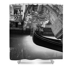 Venetian Daily Scene Shower Curtain