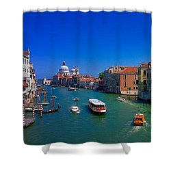 Shower Curtain featuring the photograph Venetian Highway by Anne Kotan