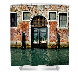 Venetian House On Canal Shower Curtain