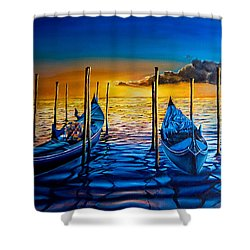 Venetian Lights 7 Shower Curtain
