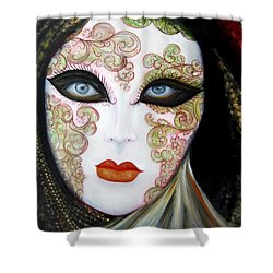 Venetian Mask In Black 2015 Shower Curtain