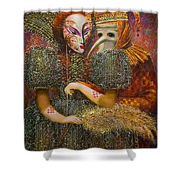 Venetian Masks Shower Curtain