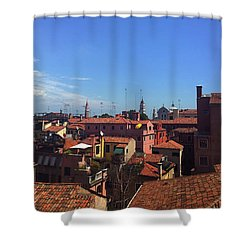 Shower Curtain featuring the photograph Venetian Skyline by Anne Kotan