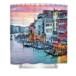 Venetian Sunset Shower Curtain