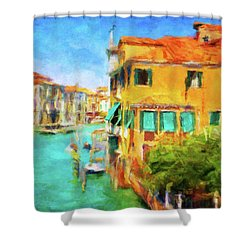 Shower Curtain featuring the photograph Venezia Afternoon by Connie Handscomb