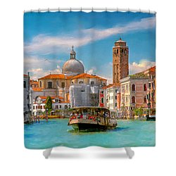 Venezia. Fermata San Marcuola Shower Curtain