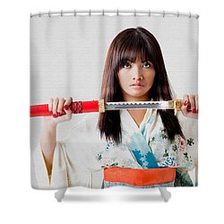 Vengeful Innocence  Shower Curtain by Rikk Flohr