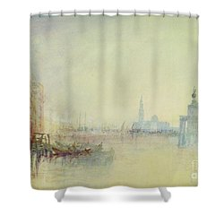 Venice - The Mouth Of The Grand Canal Shower Curtain by Joseph Mallord William Turner