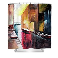 Shower Curtain featuring the painting Venice 1 by Anil Nene