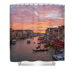 Venice At Sunset - Italy Shower Curtain