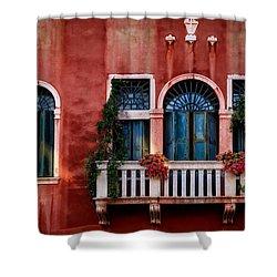 Venice Balcony Shower Curtain by Kathleen Scanlan