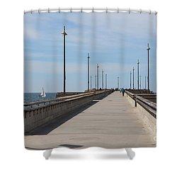 Venice Beach Pier Shower Curtain by Ana V Ramirez