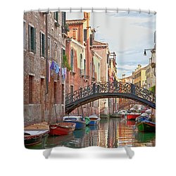 Venice Bridge Crossing 5 Shower Curtain by Heiko Koehrer-Wagner